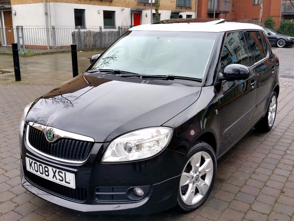 skoda fabia 1 9 tdi sport 2008 white roof miles full service history in islington. Black Bedroom Furniture Sets. Home Design Ideas