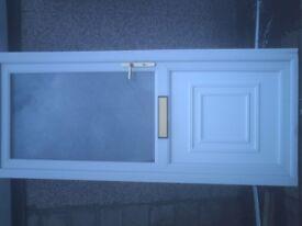 white upvc external door size 89 in w 37 1/2 in