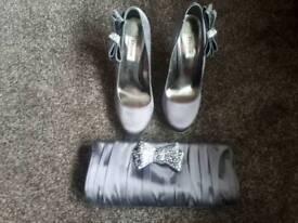 Sz6 Dune Heels & Matching Clutch