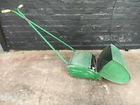 Fabulous vintage push lawn mower in perfect working order