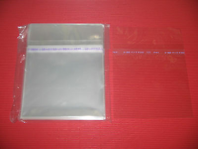 JAPAN 100 RESEALABLE OUTER PLASTIC BAG FOR JEWEL CASE CD