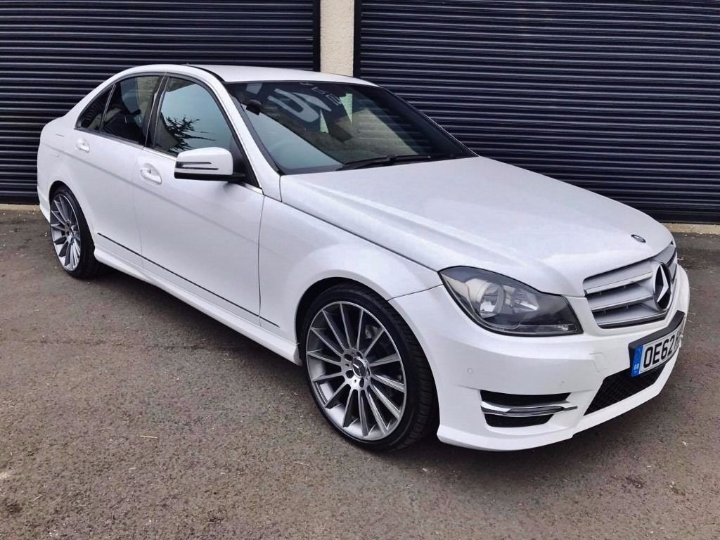 2013 mercedes c250 cdi amg sport blueefficiency 2 2 auto white fsh in ballymena county antrim. Black Bedroom Furniture Sets. Home Design Ideas
