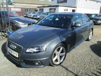 Audi A4 2.0 TDI 143 S LINE 4dr + FULL BLACK S LINE LEATHER + FULL AUDI SERVICE HISTORY (grey) 2008