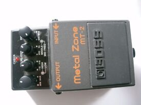 BOSS by Roland MT-2 Metal Zone stompbox/pedal/effects unit for electric guitar. - Taiwan - Boxed