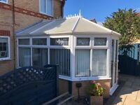 White Conservatory 4m x 2.6m with patio doors