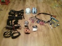 Lead climbing rack and selection of climbing kit - excellent condition