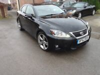 Lexus IS250 62 plate Black with Black Leather interior - Reduced