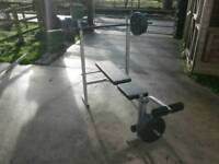 Pro power weight bench with 35kg weights