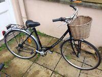 Vintage Peugeot Natural City Shopper Bike - Ladies