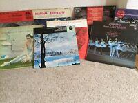 Assortment of vinyl LP records
