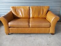 Genuine Marks & Spencer Tan Leather Sofas (Suite)