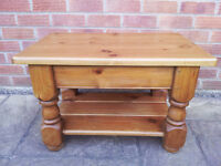 Coffee Table - Waxed Antique Pine + Furniture