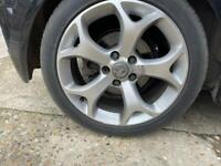 """Vauxhall 5x110 17"""" alloy wheels Astra Corsa combo etc diamond cut vxr alloys"""