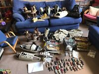 Vintage Star Wars toys collection figures ships etc