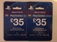 PSN Giftcards - *Brand New* RRP £35