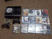 Playstation 3 with games and controller good condition
