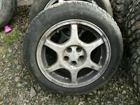 REDUCED* Subaru Alloys with 205/55/R16 BFGOODRICH Winter Tyres