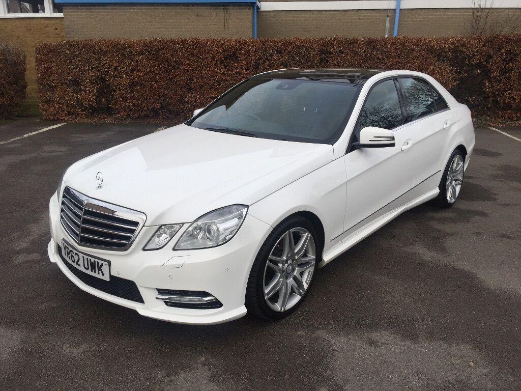 2012 Mercedes Benz E220 Sport Cdi Blueef Cy White Satnav
