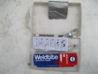 Cycle puncture used kit with coded chain lock and one key wired lock with keys