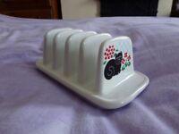 Ceramic Cat toaster Rack.