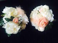 2 crystal bridesmaid bouquets