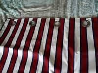 Boys striped curtains