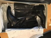 Geox Long Leg Leather Boots -Size 6