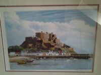 Framed print from Jersey