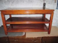 Wooden Sideboard / Hi Fi unit