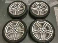 "Genuine BMW F10 19"" 351 Staggered Alloys (professionally refurbed) and 6-7mm Tyres with TPMS"