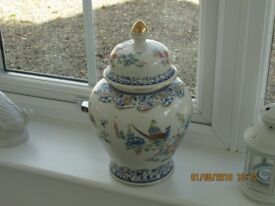 Large Chinese Bird Pattern Ginger Jar