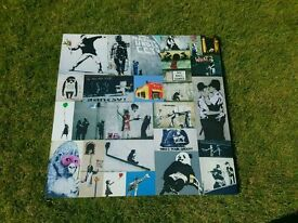 Large Banksy montage canvas