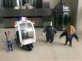 Zootropolis Figure Set with Vehicle