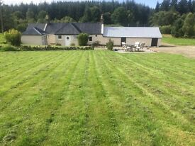 Cottage at Huntly with 9 acres, full planing permission and b/w