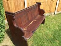 Wooden church style pew