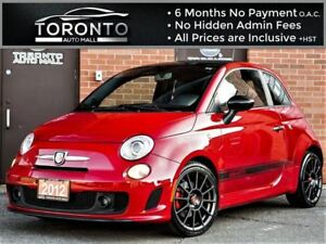 2012 Fiat 500 Abarth Abarth+5 Speed+Heated & Leather+Turbo Charg
