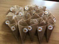 Hand made confetti cones