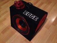 "12"" edge sub subwoofer with amp very good condition great sound"