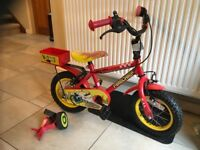Childs Firechief Bike. Excellent Condition. Suit 2- 5 Years. Stabilisers Included