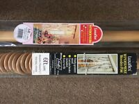 Wooden curtain poles x 4. Will separate.