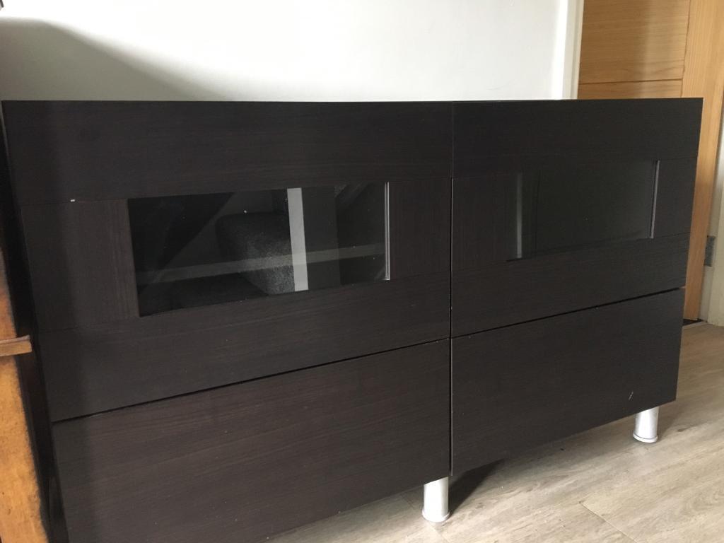 ikea besta sideboard - black/brown. | in east kilbride, glasgow