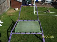 purple and green baby/toddler trampoline