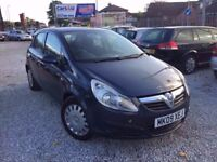 09 VAUXHALL CORSA D CLUB 1.4 PETROL IN BLUE *1 MONTH MOT* £1250 O/N/O