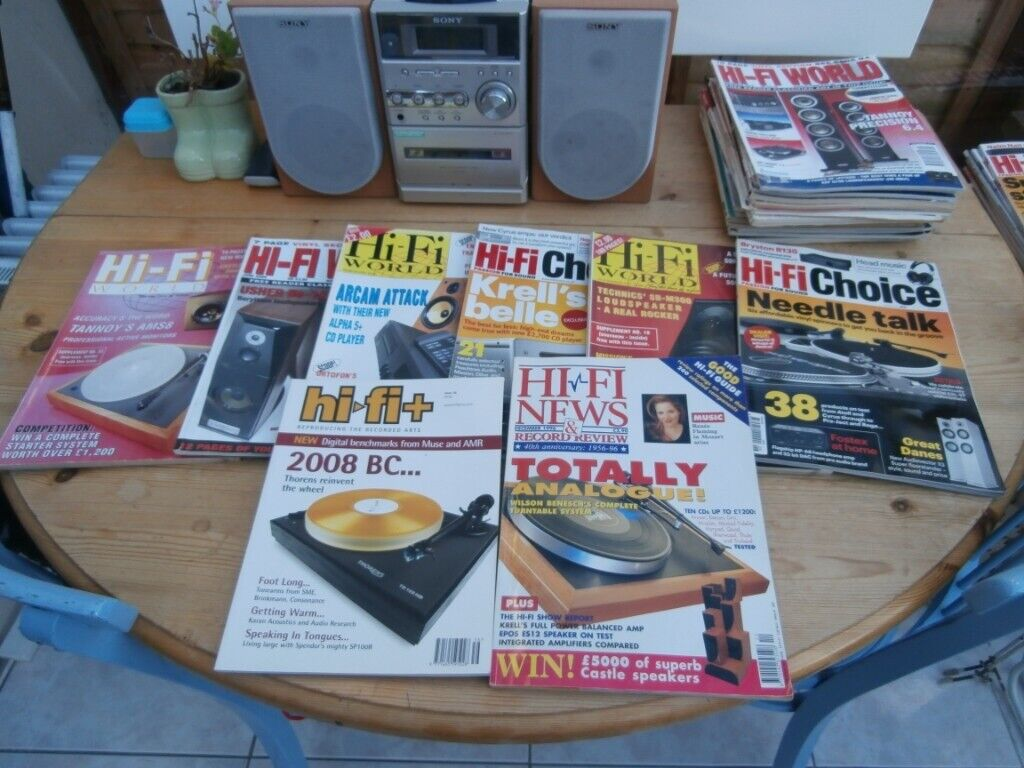 Audio File Magazines, 82 various, including HiFi World & HiFi News  | in  Exeter, Devon | Gumtree
