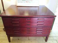 Vintage plan chest