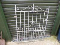 Galvanised garden gate