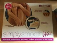 Babyliss Simply Smooth wax system hair remover brand new sealed
