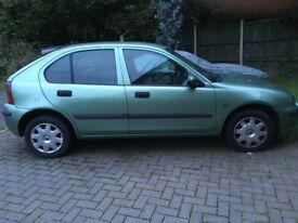 Rover 25 metallic green.
