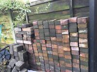 around 300 used block pavings and 40 borders
