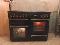 Rangemaster 110 gas cooker dark blue front